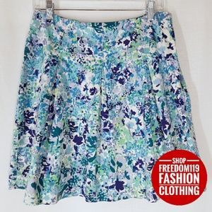 New York & Company   Floral A line Skirt (8)